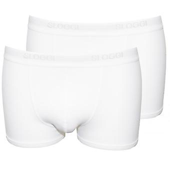 Sloggi 2-Pack Basic korte Boxer Trunks, wit