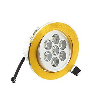 I LumoS High Quality Epistar 7 Watts Gold Circle Aluminium Warm White LED Tiltable Recessed Spot Down light