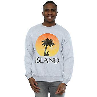 Island Records Men's Distressed Logo Sweatshirt