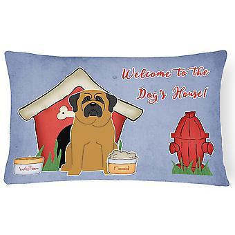 Hunden huset samling Mastiff lerret stoff Dekorative Pillow