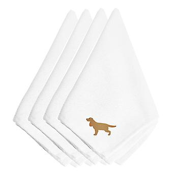 English Cocker Spaniel Embroidered Napkins Set of 4