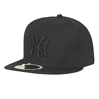 New era 59Fifty KIDS Cap - BLACK ON BLACK NY Yankees