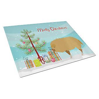 Unkarin Mangalica sika joulu lasinen leikkuulauta suuri