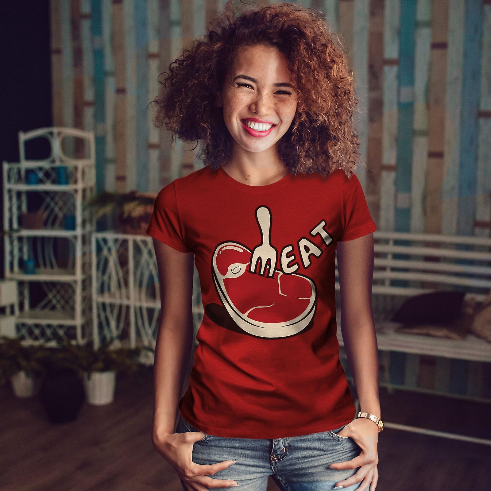 La viande Steak RedT-chemise femme | Wellcoda