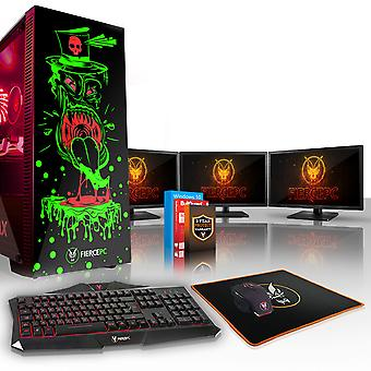 Felle GOBBLER Gaming PC, Intel Core i5 8600 K 4.5 GHz, 240 GB SSD, 2 TB HDD, 16 GB RAM, RTX 2080 8 GB