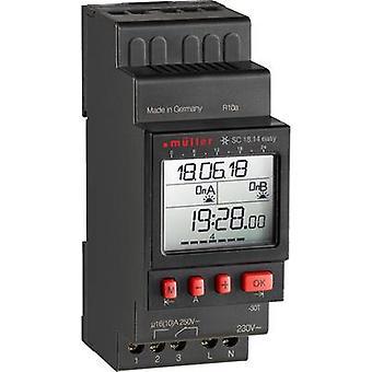 Müller SC 18.14 easy NFC DIN rail mount timer digital 230 V 16 A/250 V