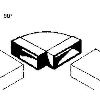 Wallair 20200112 Sistema de ventilação do canal plano 100 mm 90 g duto bend