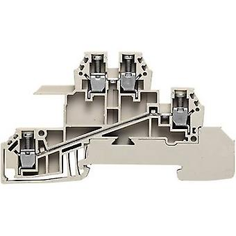 Fördelare serieterminaler WDL 2.5 S för 10 x 3 mm busbar WDL 2.5/S/L/L 1031200000-1 Grå, Grön, Gul Weidmüller 1 st(ar)