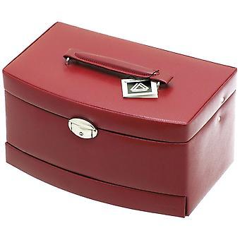 Contenitore di monili caso di gioielli di davidt rosso viaggi specchio causa blocco