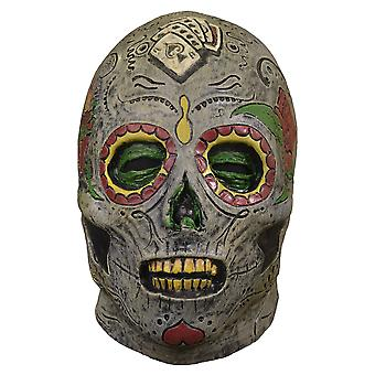Day Of The Dead Zombie Walking Dead Horror Mens Costume Overhead Latex Mask