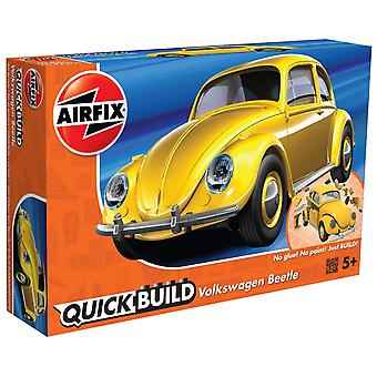 Airfix J6023 Quick Build VW Beetle Vehicle Toy, Yellow Model Kit