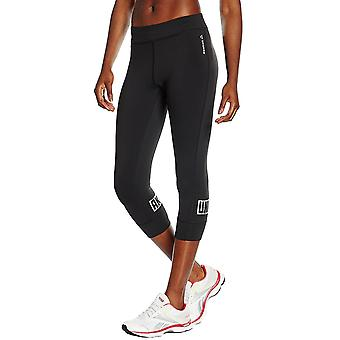Reebok Womens dansen Gym met 3/4 Capri strakke broek bodems Leggings - zwart
