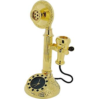 Gift Time Products Classic Telephone Miniature Clock - Gold