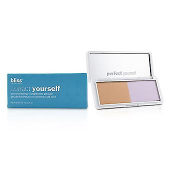 Bliss Correct Yourself Tone Correcting + Brightening Powder - # Peach/lavender - 7g/0.25oz