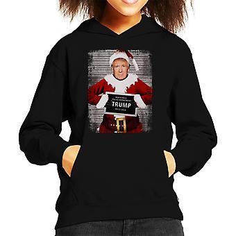 クリスマス Mugshot ドナルド・トランプ・キッドのフード付きスウェットシャツ