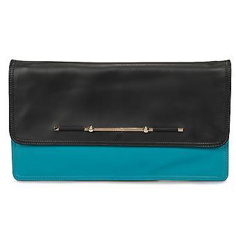 Versace Nappa Plonge dobbelt farve dobbelt folde kobling taske