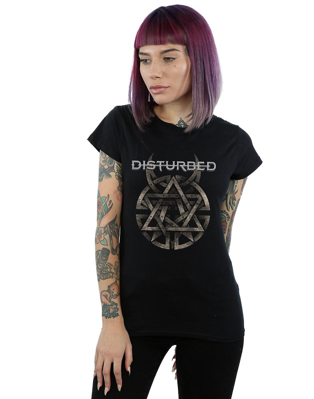 Disturbed Women's Metal Logo T-Shirt
