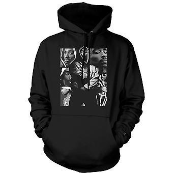 Mens-Hoodie - Tupac Collage - Hip Hop