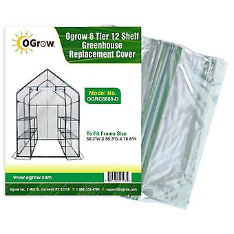 Walk In Greenhouse Replacement PVC Plastic Cover for 12 Shelf Garden Grow House