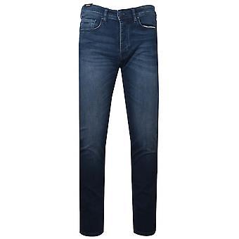 Босс Taber Blue мыть джинсовой ткани трикотажные Жан