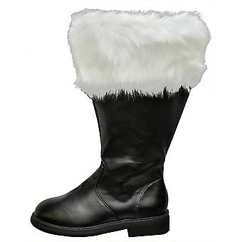 Santa Boot Wide Calf Fur Cuff
