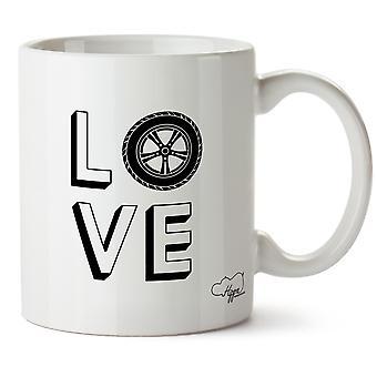 Hippowarehouse kjærlighet biler trykt krus Cup keramiske 10 Unzen