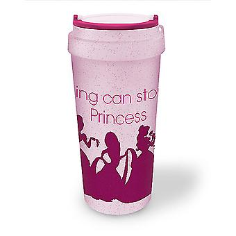 Disney Princess Eco Travel Mug Coffee-To-Go-Becher pink, bedruckt, aus Biokunststoff.