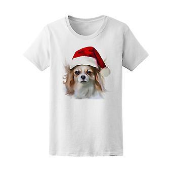 サンタの帽子犬 t シャツ メンズ-シャッターによる画像