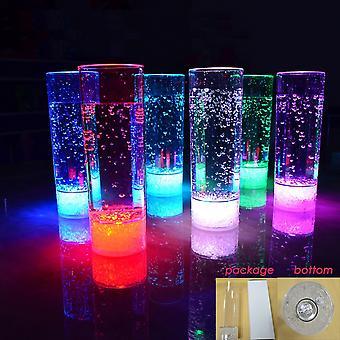 Moderne hjem LED høyt cocktailglass w/7 farger pluss visne
