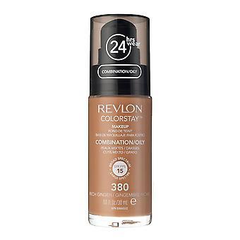 Revlon Colorstay Foundation pour peau mixte/grasse, #380 riches de gingembre