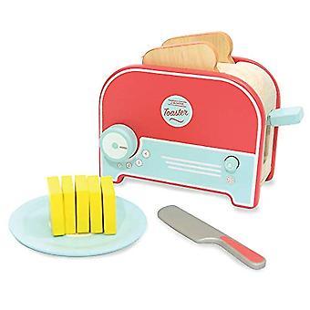 インディゴ Jamm Jamm トースター、ふりのパンとバターを木のおもちゃトースター再生食品とキッチン付属品