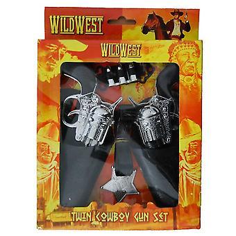 Wild West Twin vaquero pistola y funda configurar Vestido