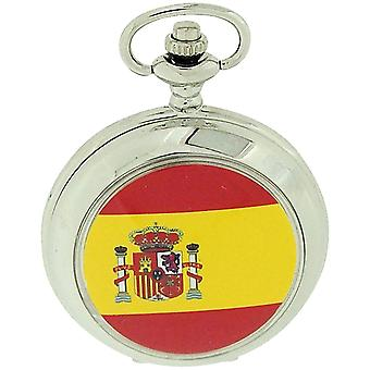 Boxx Spain Spanish Flag White Dial Gents Pocket Watch 12