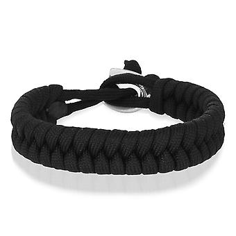 Skipper Flechtarmband Armband Bracelet geflochten aus Nylon in Schwarz 8003