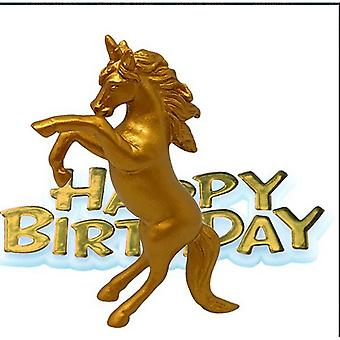 Cake Birthday Gold Unicorn Decoration Topper