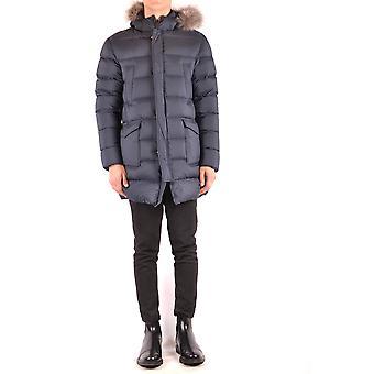 Herno Ezbc034035 Men's Blue Nylon Outerwear Jacket