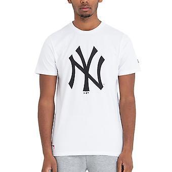 New Era Basic paita-MLB New York Yankees valkoinen