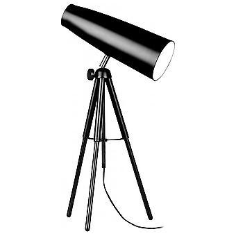 Fusion Living Black Retro Tripod Table Lamp