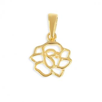 Gold Camelia-plated pendant