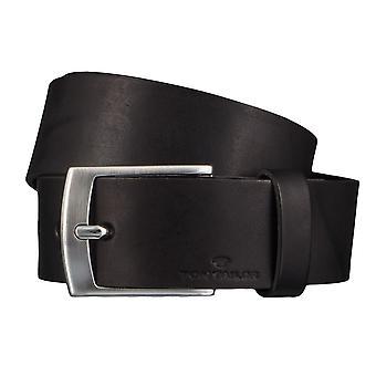 Jeans ceintures de hommes ceintures en cuir TOM TAILOR ceinture ceinture noire 4346