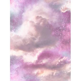 Diamond Galaxy Cloud Glitter Wallpaper Arthouse