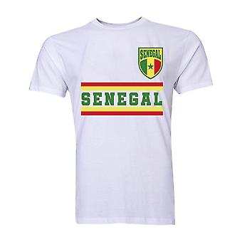 السنغال الأساسية لكرة القدم البلد تي شيرت (أبيض)