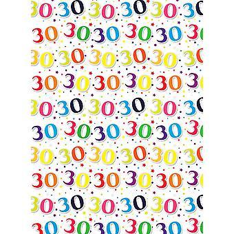 Simon Elvin 24 Sheets 30th Birthday Gift Wraps
