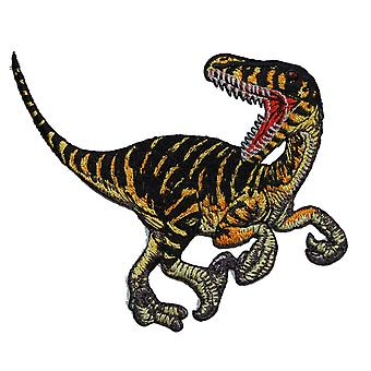 Patch - Animals - Striped Velociraptor Iron On Gifts New Licensed p-3986