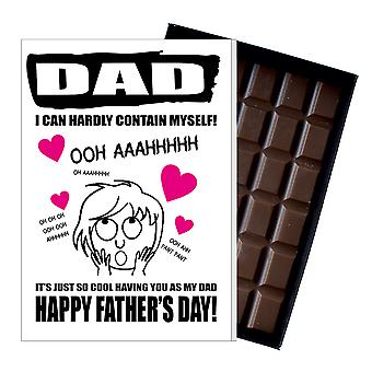 Funny Father's Day Gift Silly Chocolate Present Rude Card For Dad DADIYF133