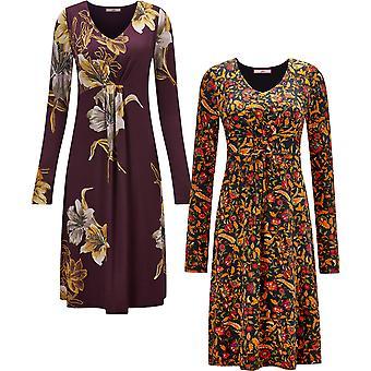 Joe Browns Womens höst Florals Jersey klänning