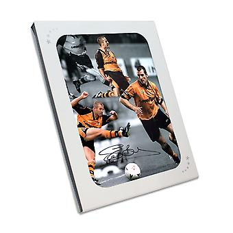 Steve Bull Signed Wolves Photo: Wolves Legend In Gift Box