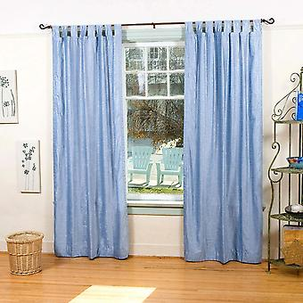 Leichte blaue Lasche oben Samtvorhang / drapieren / Panel - Stück