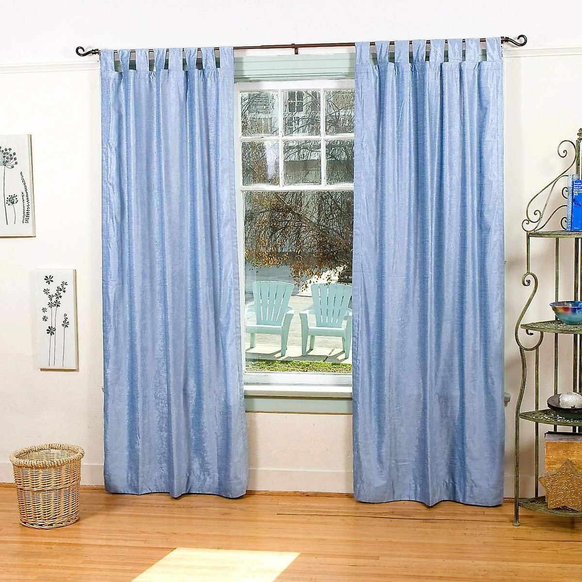 Højmoderne Lys blå fane Top velour gardin / drapere / Panel - stykke | Fruugo AN-73