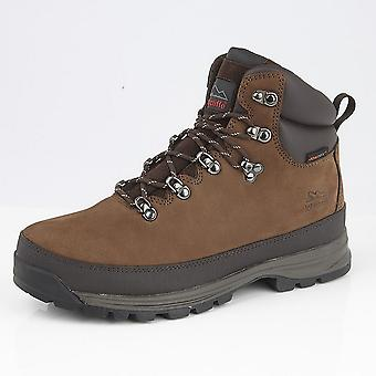 Johnscliffe Mens Edge Laced Nubuck Leather Padded Ankle Hiking Boot